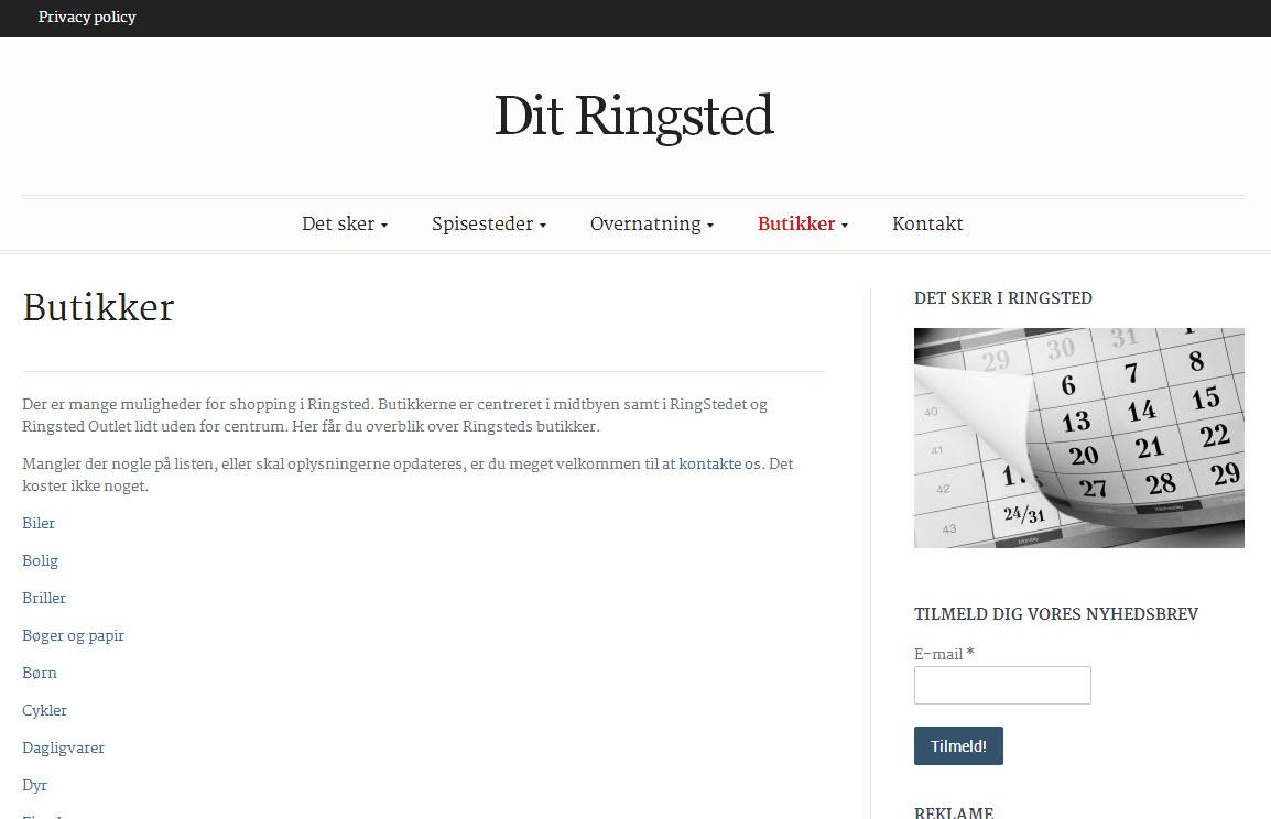 Dit Ringsted – butikker